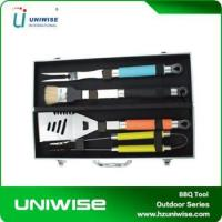 Best Durable 4Pcs BBQ Tool Set With Aluminum Case wholesale