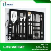 Best Hot Sale 24pcs Stainless Steel BBQ Tools BBQ Set With Strong Aluminum Case wholesale
