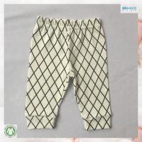 China screen printed organic cotton infant tights on sale