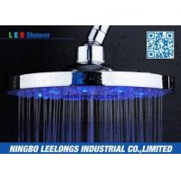 Best Hotel SPA Ceiling Mounted Rain Shower Heads Overhead , Blue Led Shower Head wholesale