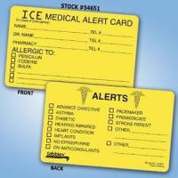 Best ICE - Medical Alert Card wholesale