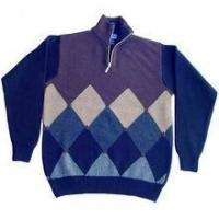 China men's Cashmere pullover Sweater (100%high quality cashmere intarsia argyle) SWT-M10007 on sale