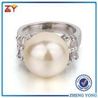 Best New Fashion Pearl Jewelry Silver Ring Design for Women wholesale