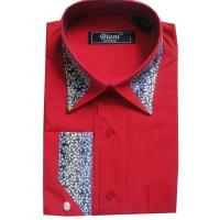 China KM-412 Mens contrast fashion dress shirts with dobby necktie on sale