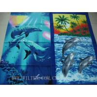 China Cotton Velour Reactive Printed Beach Towel on sale