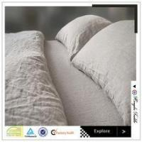 China 100% pure linen ruffle style dew color bed set bed sheet duvet cover cushion on sale