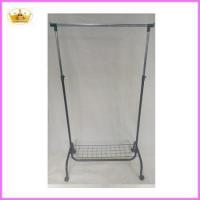 Best Cloth rack supplier Folable metal single bar laundry drying rack wholesale