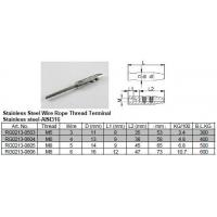 China Stainless Steel Wire Rope Thread Terminal on sale