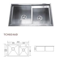 China TCH8246D used commercial stainless steel sinks on sale