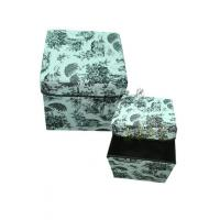 Best 2491 wholesale custom color bamboo cloth home fabric storage box wholesale
