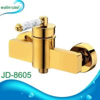 China Bath shower mixer titanium gold plated tap shower water mixer JD-8605 on sale