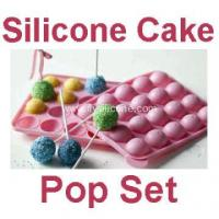 China 20 Free Sticks Silicone Cake Chocolate Lollipops Tray on sale