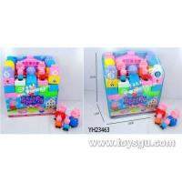 Cheap Yu Han Toys Trading 33PCS Pepe the pig puzzle blocks YH23463 for sale