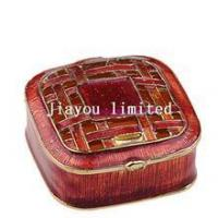 Best TBP0581-red jewelry box pewter ornament enameled box wholesale