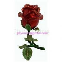 Best TBP0204-red rose enameled jewelry box Valentine's gift for her wholesale