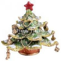 Buy cheap TBP0428-Christmas tree bejeweled trinket box ornaments from wholesalers