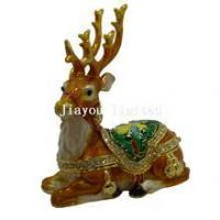 Buy cheap TBP0087-Christmas deer trinket box ornament from wholesalers
