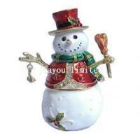 Buy cheap TBP0369-snowman trinket box Christmas gifts from wholesalers