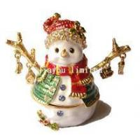 Buy cheap TBP0368-snowman trinket box Christmas gifts ornaments from wholesalers