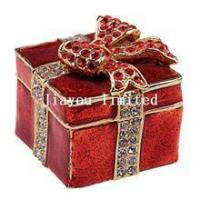 Buy cheap TBP0140-mini storage Christmas jewelry trinket box Christmas gifts from wholesalers