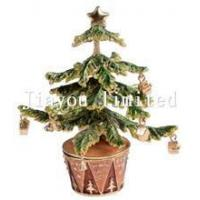 Buy cheap TBP0373-Christmas tree bejeweled trinket box from wholesalers