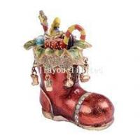 Buy cheap TBP0425-Christmas shoes trinket treasure box from wholesalers