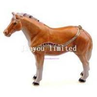 Best TBP0014Y-horse trinket jewelry box horse figurine statue metal home decor wholesale