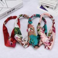 China Printing Knot Elasticity Headband Paternity Headwarp Cotton Girls Hair Accessories For Women on sale