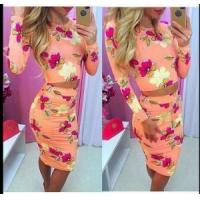 China Long Sleeve Floral Two-Piece Set 21450 on sale