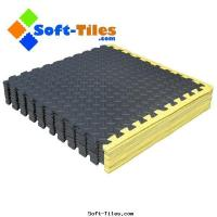 China Interlocking Foam Flooring with Yellow Borders on sale