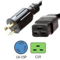 China 50A Cords and Connectors L6-15P to C19 Power Cords on sale