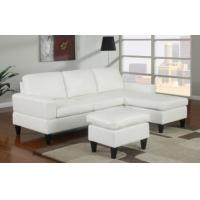 Best Sausalito Cream Leather Small Sectional Sofa by Urban Cali wholesale
