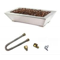 Buy cheap Stainless Steel Paramount Pan Burner Fireplace Kit With Fire Glass from wholesalers