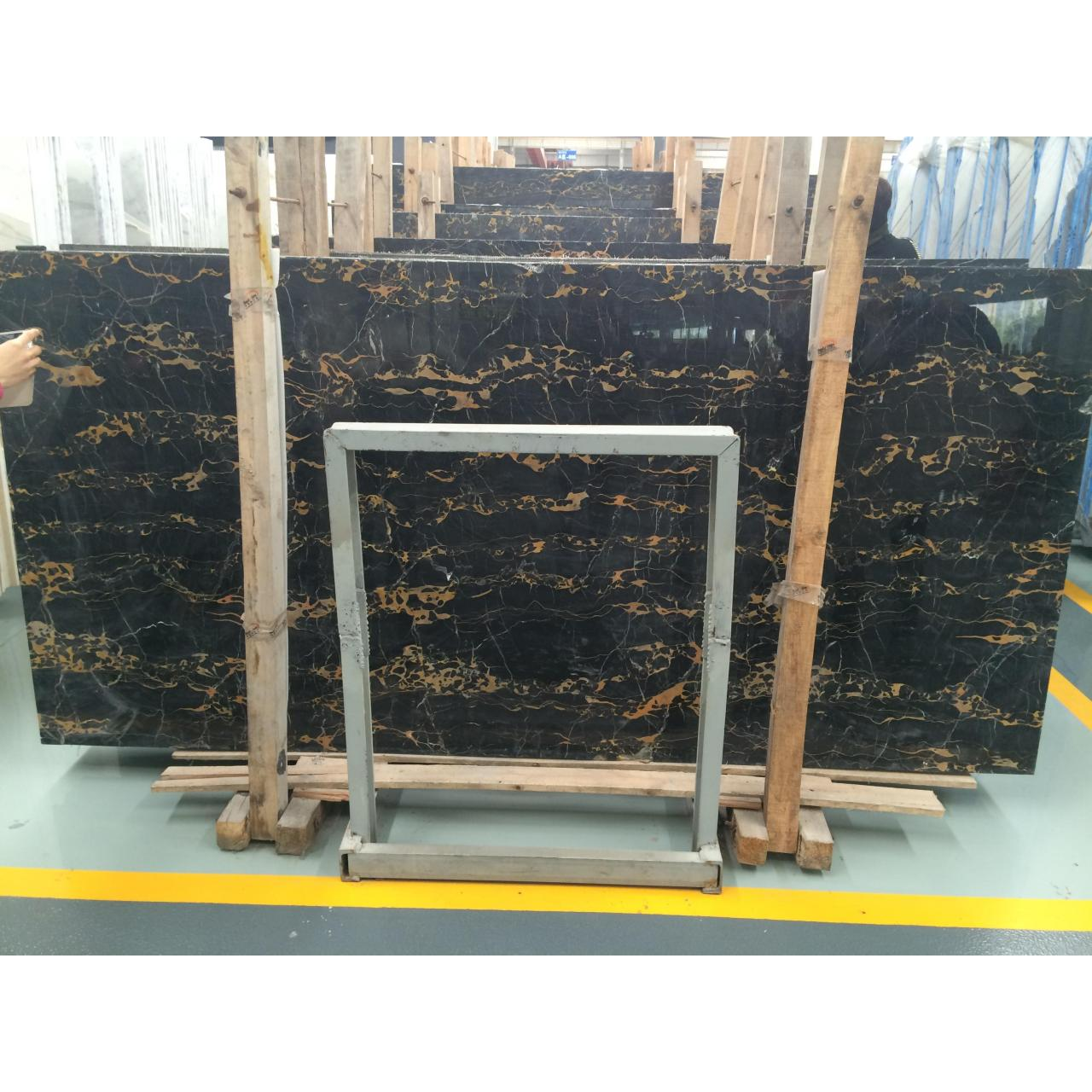 Buy cheap Imported Marble Product Italy Black Golden Flower from wholesalers
