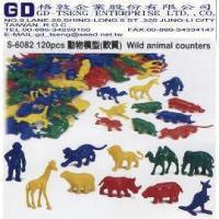 Buy cheap 120pcs Wild animal counters from wholesalers