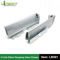 China Cold rolled steel full extension soft closing tandem box slides on sale