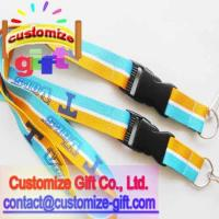 China secondary color polyester lanyard secondary color lanyard on sale
