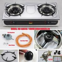 Best Popular!!2 burner S/S table top gas cooker/gas stove (RD-GD048) wholesale