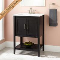 Buy cheap Hotel Use Solid Wood Modern Bathroom Cabinet from wholesalers