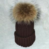 Best fashion crochet hat with fur ball wholesale