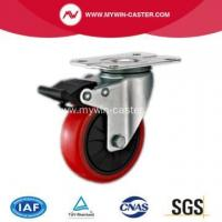 China PU Industrial Caster With Blue Zinc Plated on sale