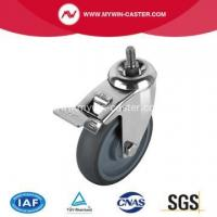 Best Threaded Stem TPR Swivel Caster With Brake wholesale