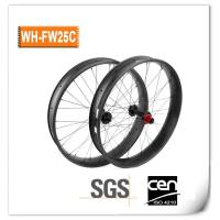 China OEM 26er MTB Carbon Snow Bike Wheels available 60/80/85/100mm Width on sale