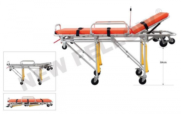 China Foldable Ambulance Trolley Stretchers Aluminum Patient Rescue Stretcher NF-A1-1
