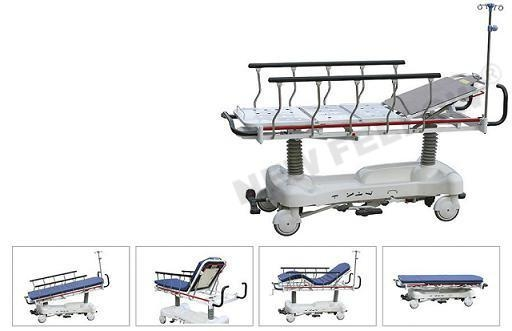 China Patient Stretcher Trolley height adjusted by oil-hydraulic NF-E4