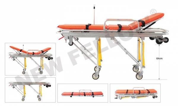 China Patients Auto Loading Aluminum Alloy Ambulance Trolley Stretchers NF-A3