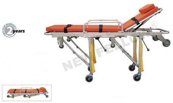 China Patient Stretcher Trolley Foldable Auto Loading NF-A4