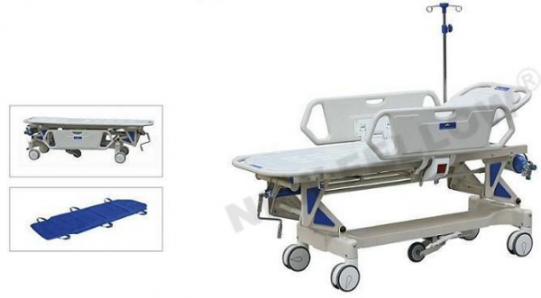 China Manual Rise-and-Fall Hospital Medical Stretcher Trolley, Patient Trolley NF-E3