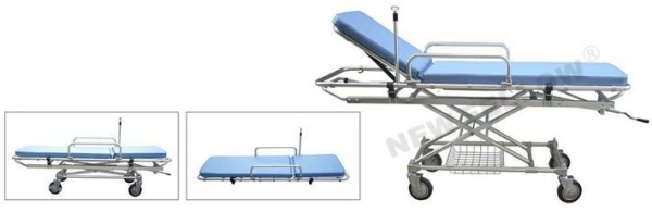 China Adjustable Height Medical Folding Stretcher Trolley NF-E2-1