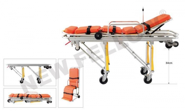 China Foldable Ambulance Trolley Stretchers Auto Loading Ambulance for Patient Rescue NF-A3-1